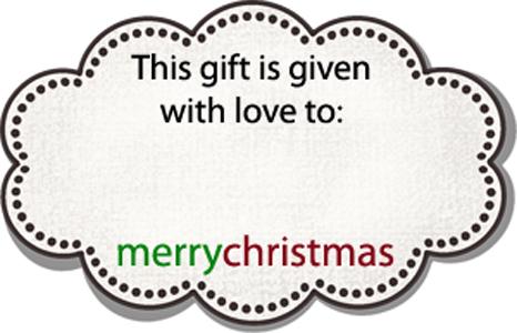 Individual christmas tag